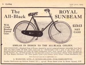 A 1915 model of the Sunbeam