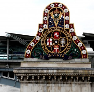 Arms of the LCBR, erected on their bridge at Blackfriars, in 1864