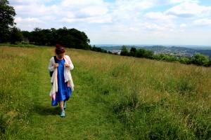 Malene Skaerved on the North Downs Way (August 214_