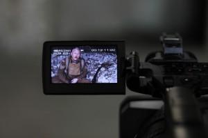 dan being filmed